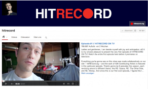 hitrecord crowdsourced music and art